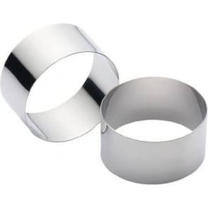Stainless Steel Cooking Rings , Set of 2