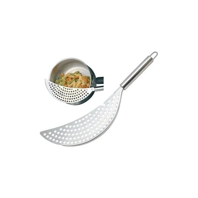 Kitchen Craft Stainless Steel Crescent Shaped Pan Drainer