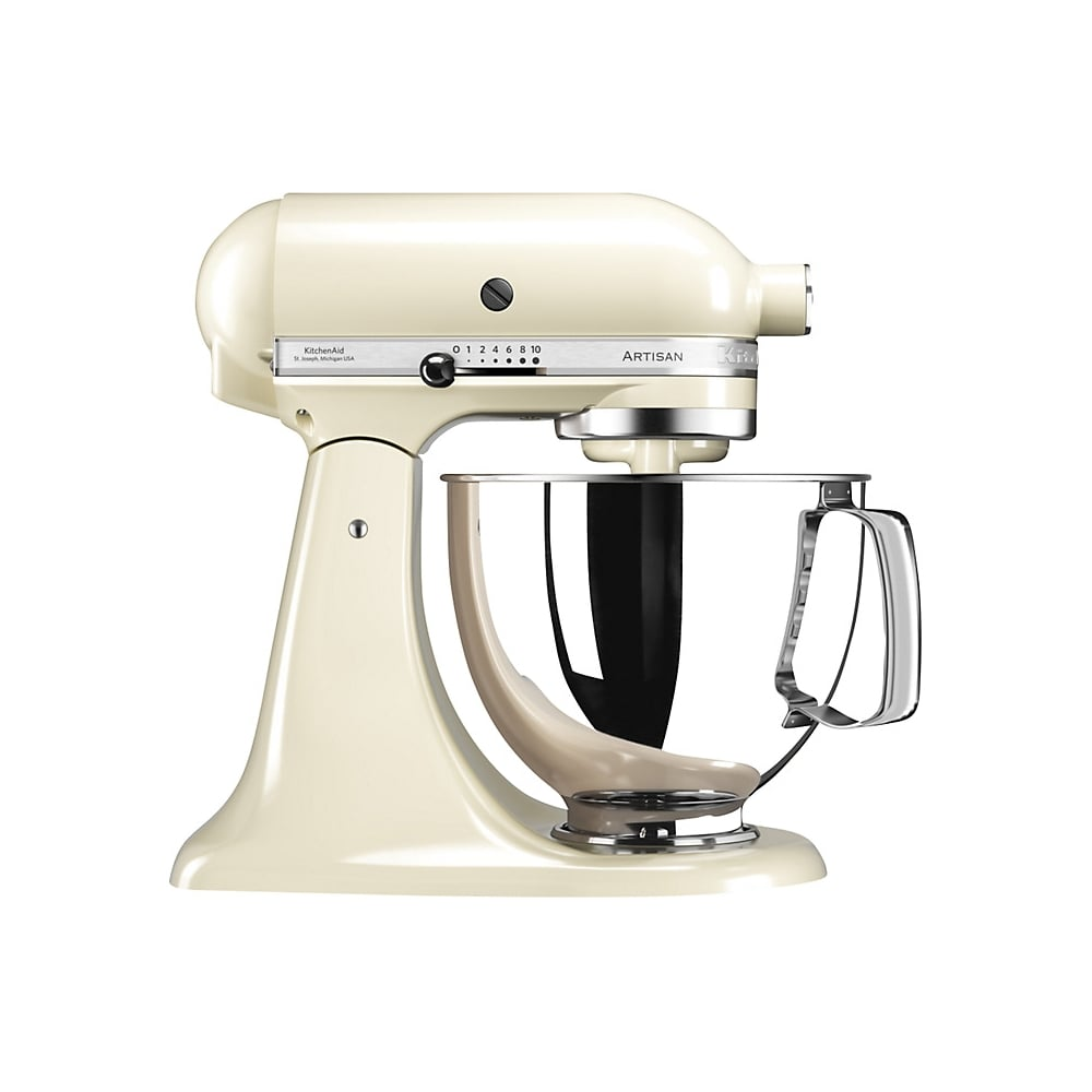 kitchenaid 125 artisan 4 8l stand mixer almond cream home appliances from uk. Black Bedroom Furniture Sets. Home Design Ideas