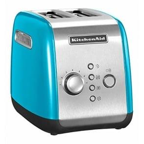 2 Slice Toaster, Crystal Blue