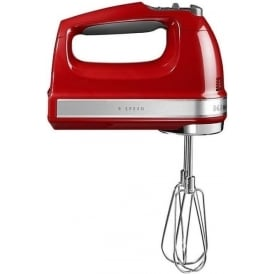 5KHM9212 85W DC Motor Hand Mixer, Empire Red