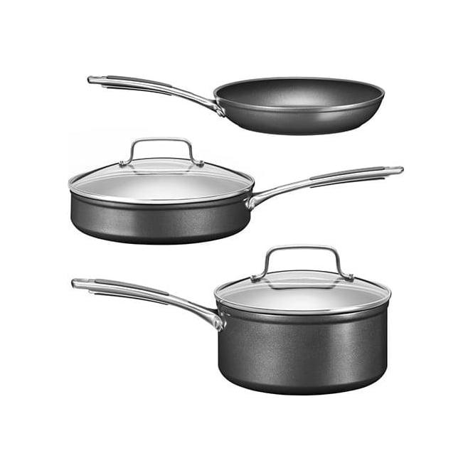 KitchenAid Hard Anodised 3 Piece Pan Set