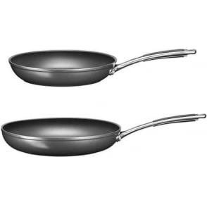 Hard Anodised Twin Frying Pan Set