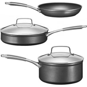 KC2H1S05BK Hard Anodized 3 Piece Cookware Set
