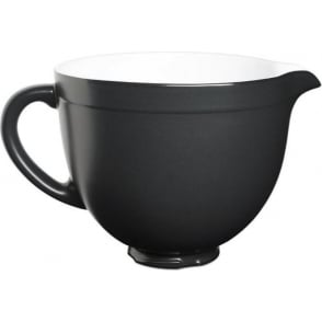 KSMCB5BM 5-Qt. Tilt-Head Ceramic Bowl, Black Matte