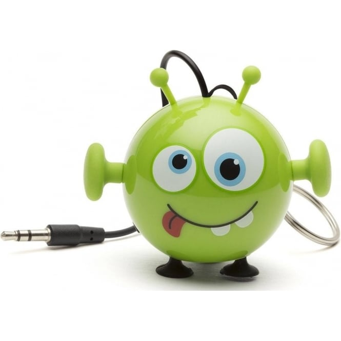My Doodles KSNMBAI Mini Buddy Alien Small and Portable Rechargeable Universal Wired Speaker