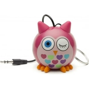 KSNMBOWL Mini Buddy Owl Small and Portable Rechargeable Universal Wired Speaker