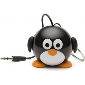 KSNMBPEN Mini Buddy Penguin Small and Portable Rechargeable Universal Wired Speaker