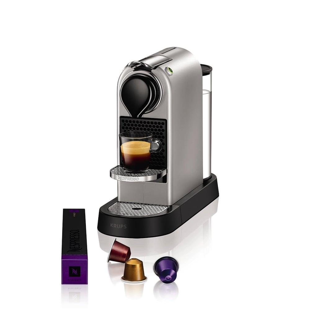krups citiz nespresso machine silver krups from. Black Bedroom Furniture Sets. Home Design Ideas