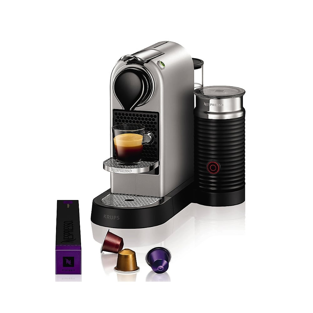 Krups citiz nespresso machine silver with aeroccino3 milk frother - Machine a cafe krups nespresso ...