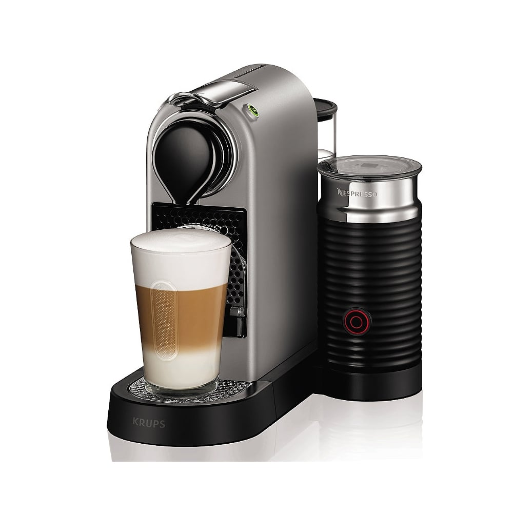 Krups Citiz Nespresso Machine, Silver, with Aeroccino3 Milk Frother - Krups from Powerhouse.je UK