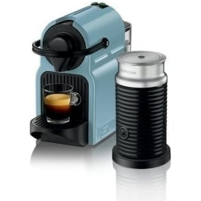 Nespresso Inissia Coffee Machine Bundle, Blue