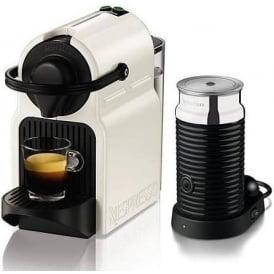 XN101140 Nespresso Inissia White Capsule Coffee Machine with Aeroccino Milk Frother
