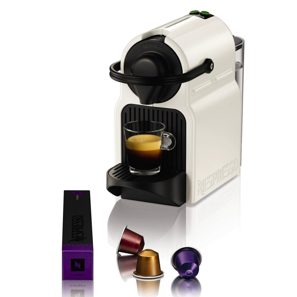 Electronic Krups Capsule Coffee Machine krups xn101140 nespresso inissia white capsule coffee machine with aeroccino milk frother