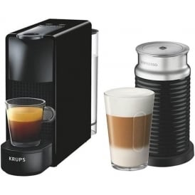 XN111840 Nespresso Essenza Coffee Machine with Aeroccino, Black
