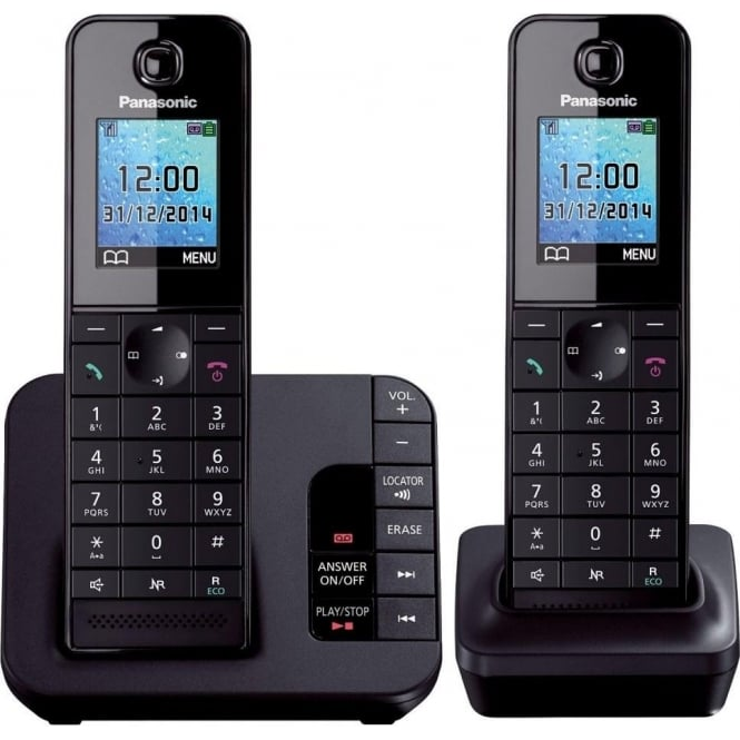 Panasonic KX-TGH222 Digital Cordless Telephone with Answering Machine, Double
