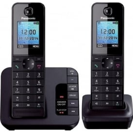 KX-TGH222 Digital Cordless Telephone with Answering Machine, Double