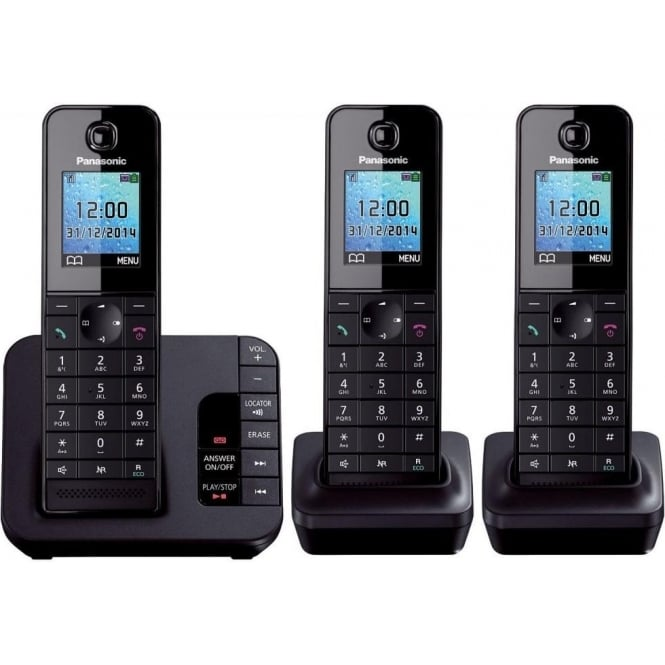 Panasonic KX-TGH223 Digital Cordless Phone with Colour LCD, Trio