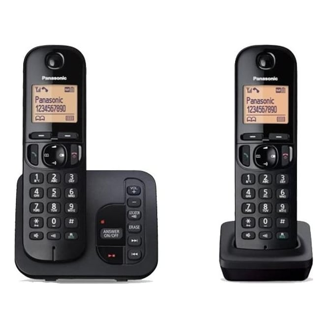 Panasonic KXTGC222EB Twin Cordless DECT Telephone with Answerphone