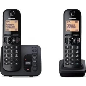 KXTGC222EB Twin Cordless DECT Telephone with Answerphone
