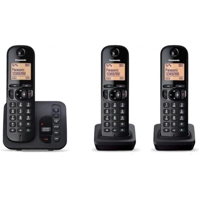 Panasonic KXTGC223EB Trio Cordless DECT Telephone with Answerphone