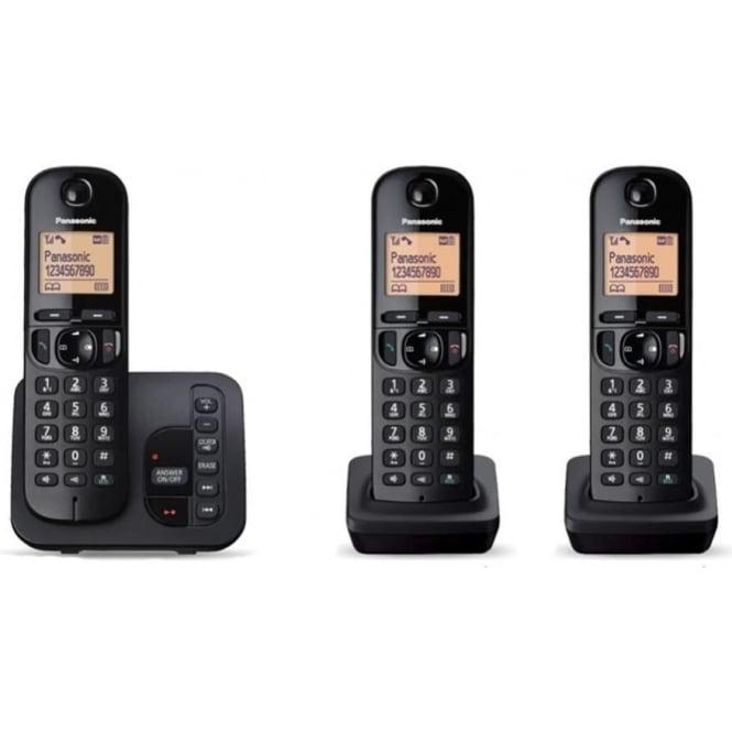 Panasonic KXTGC223EB Trio Cordless DECT Telephone with Answerphone