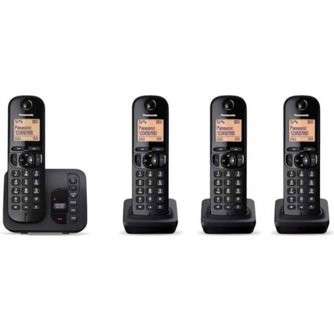 Panasonic KXTGC224EB Quad Cordless DECT Telephone with Answerphone