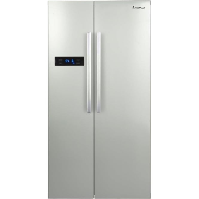 LEC AFP90185 American A+ Fridge Freezer, Silver