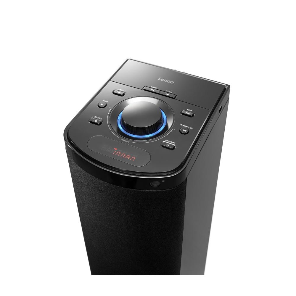 Lenco BTT-1 Speaker Tower With Bluetooth PLL FM Radio And USB Slot