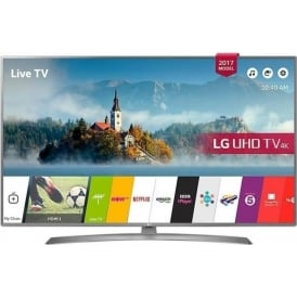 "43UJ670V LED HDR 4K Ultra HD Smart TV, 43"" with Freeview Play & Crescent Stand, Grey"