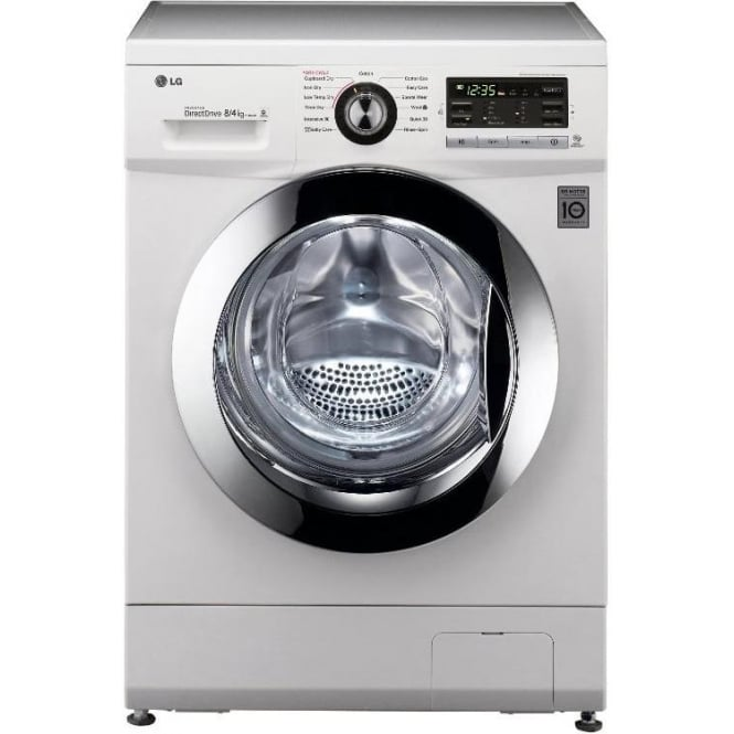 LG F1489ADW 8kg Wash, 1400RPM, 4kg Dry Freestanding Washer Dryer, White