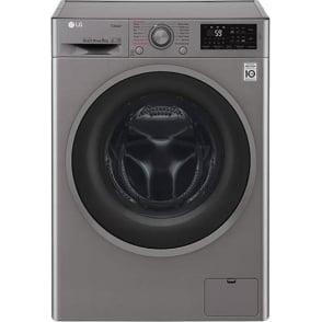 F4J6TY8S 8kg, 1400rpm,  A+++ Freestanding Washing Machine, Shiny Steel