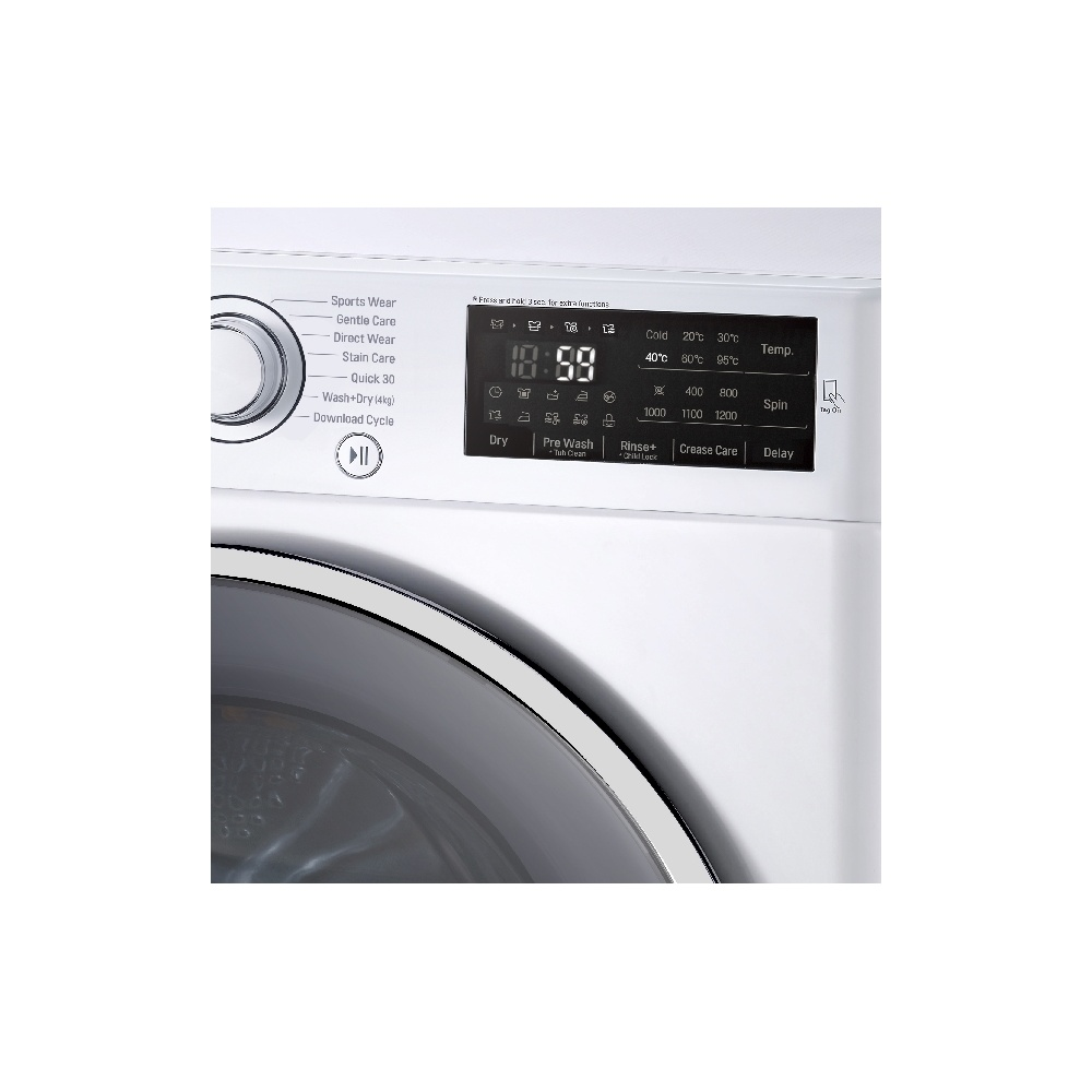 lg fh4u2vdn1 9kg 1400rpm a washing machine white lg. Black Bedroom Furniture Sets. Home Design Ideas