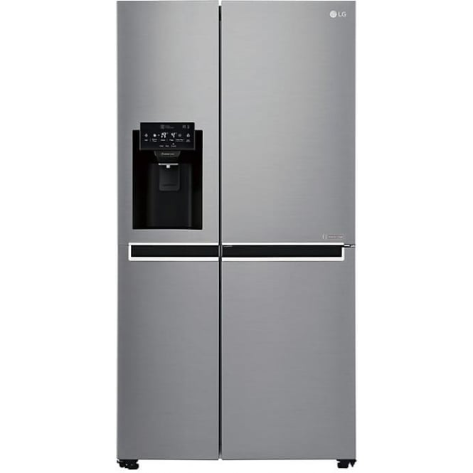 LG GSL760PZXV American Style Fridge Freezer, A+ Energy Rating, 90cm Wide, Silver