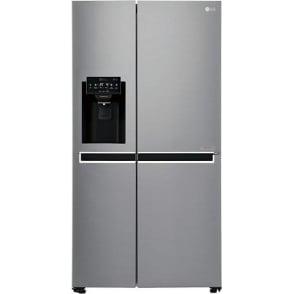 GSL761PZXV A+ American Style Fridge Freezer, Silver