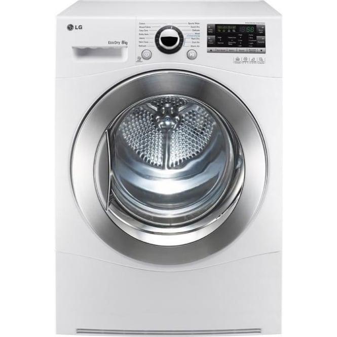 LG RC8055AH2Z 8kg, A++ Heat Pump Condenser Dryer