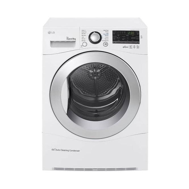 LG RC9055AP2F Heatpump Condenser Tumble Dryer, White