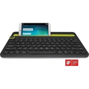 K480 Tablet Wireless Bluetooth Keyboard, Black