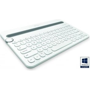 K480 Tablet Wireless Bluetooth Keyboard, White