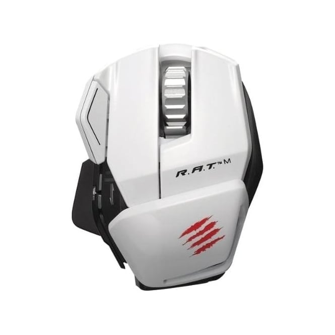 Mad Catz R.a.t. M Wireless Mobile Gaming Mouse, White
