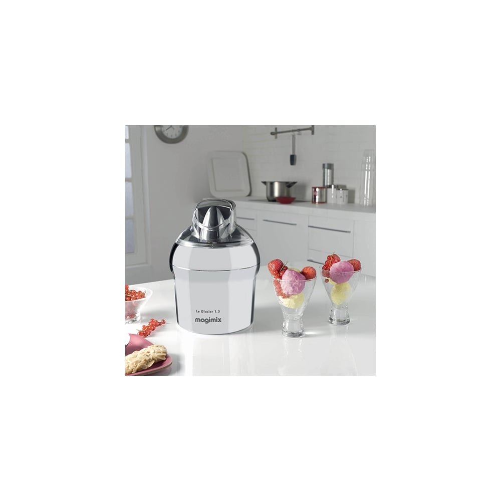 magimix le glacier 1 5l ice cream maker chrome magimix from uk. Black Bedroom Furniture Sets. Home Design Ideas