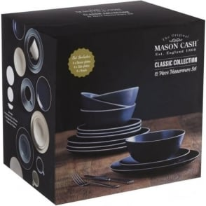 Classic Blue 12pc Dinner Set