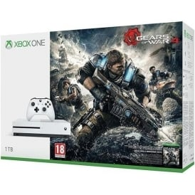 Xbox One S 1TB + Gears of War 4 Game Consoles