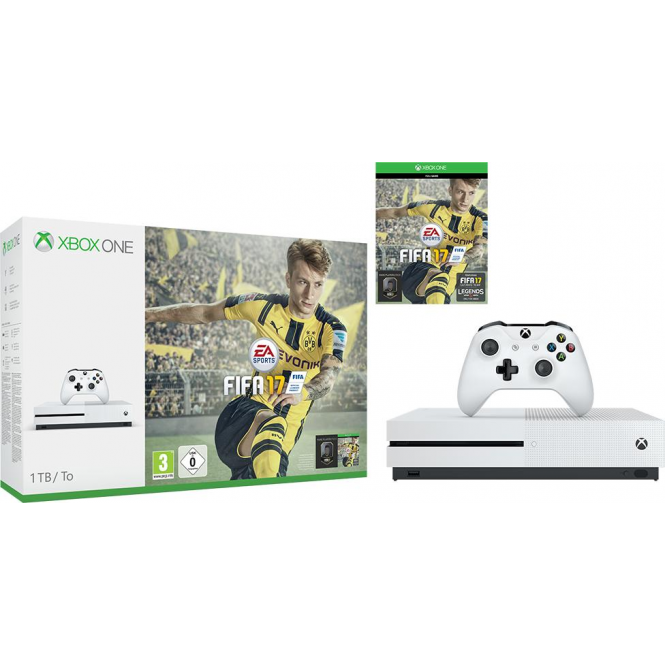 Microsoft Xbox One S FIFA 17 Bundle 1TB