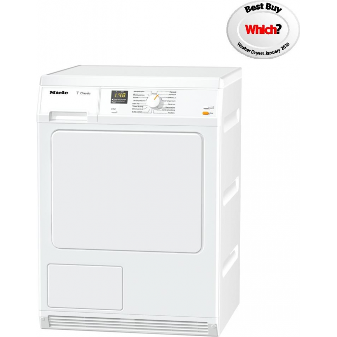 Miele TDA 140 C Tumble Dryer, B, 7kg, Time Left display, Condenser