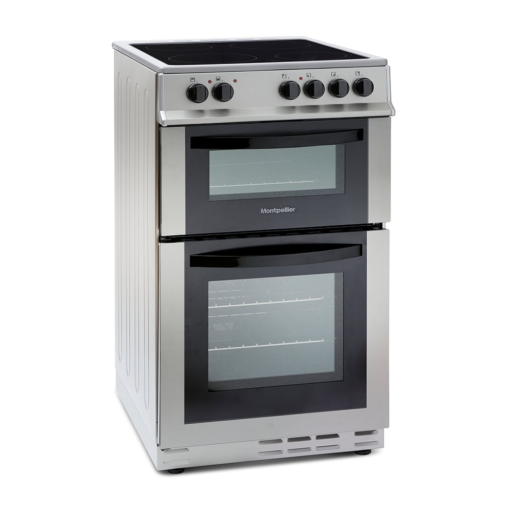 montpellier mdc500fs 50cm electric cooker with double oven. Black Bedroom Furniture Sets. Home Design Ideas
