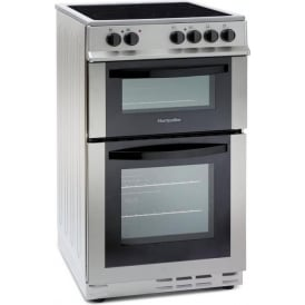 MDC500FS 50cm Electric Cooker with Double Oven and Ceramic Hob, Silver