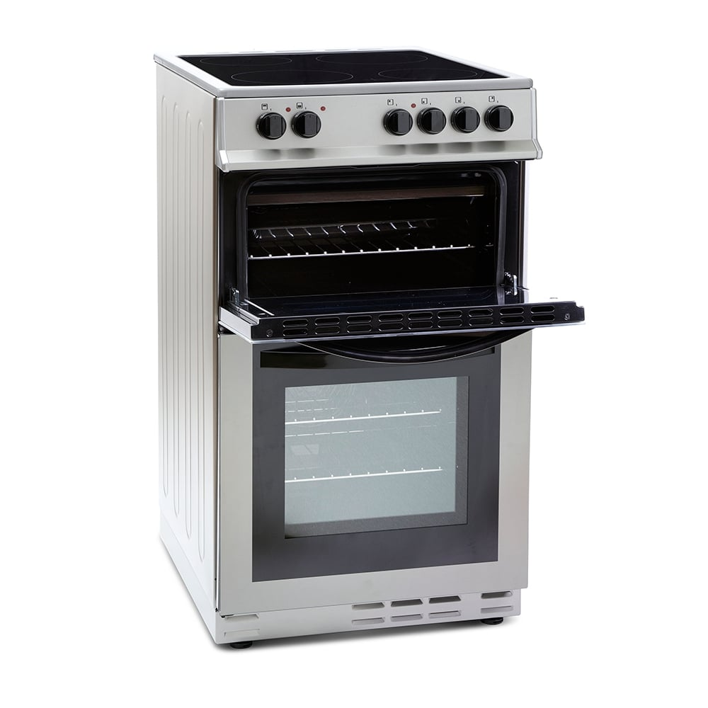 Montpellier Mdc500fs 50cm Electric Cooker With Double Oven