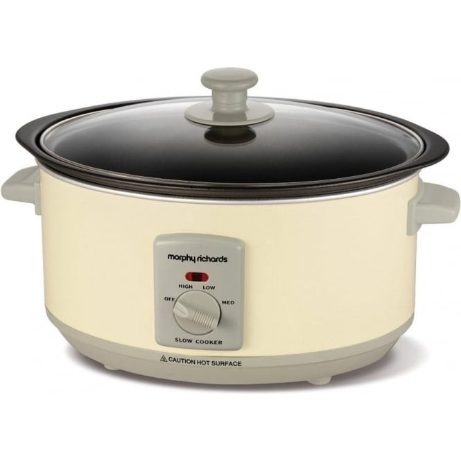 Morphy Richards 460002 Sear & Stew 3.5L Slow Cooker, Cream