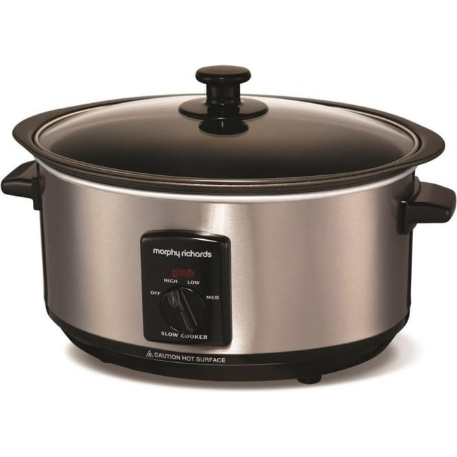Morphy Richards 48701 Sear and Stew Slow 3.5L Cooker, Brushed Stainless Steel